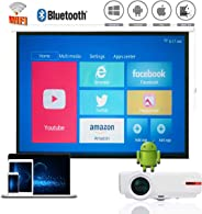 1080P 本地视频投影仪 WiFi,安卓蓝牙无线投影仪 LED,1G RAM + 8 G ROM,4K *大分辨率,支持 Airplay Miracast DLNA,适用于 iPhone iPad Android 手机平板电脑 PC PS3/PS4 Xbox