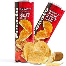 Fessto 菲思图 番茄味薯片(膨化食品)160g*2(马来西亚进口)