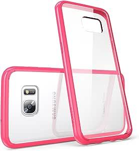 Galaxy S7 Edge 手机壳,[耐刮擦] i-BlasonClear [光晕系列] 三星 Galaxy S7 Edge 混合防撞保护套2016 版GalaxyS7-Edge-Halo-Pink Clear/Pink