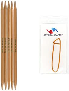 四叶草 takumi 竹双点织针13.97cm 5个 / 包带1个 artsiga CRAFTS stitch 支架