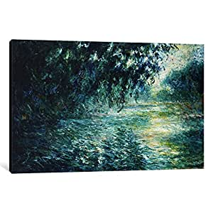 iCanvasART 15139-1PC3 Morning on The Seine, Near Giverny Canvas Print by Claude Monet, 0.75 by 18 by 26-Inch