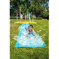 Sportspower Waterpark FUNtain 喷气垫带 25.4 厘米 X 304.8 厘米自动洒水器垫和 63.5 厘米超长滑梯
