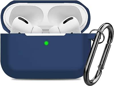 兼容 AirPods Pro 保护套硅胶保护套,适用于 Apple Airpod Pro 2019(前置 LED 可见)