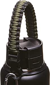 Best 水扁壶 paracord 手柄–waterfit paracord 背带 survival STRAP 线带*戒指和 carabiner 适用于 HYDRO FLASK Nalgene Camelbak 阔口水杯340.2gram–1,814.4gram