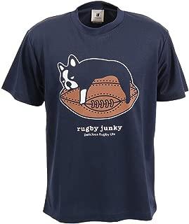 [杰克] 男式 短袖 速干T恤 奢侈品骑行服 三件套 藏青色 RJ17522 藏青色 Large