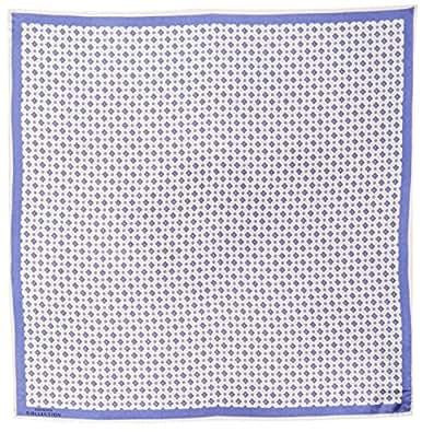 Versace 女士带图案丝巾,白色/蓝色