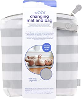 Ubbi 便携式 Changing MAT 带灰色和白色储物袋灰色