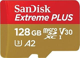 SanDisk Extreme Plus microSDXC Class 10 存储卡 带 SD 适配器 Gold/Rot 128GB