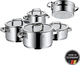WMF 761056380 功能 4 厨具套装,含蒸汽插芯,不锈钢,透明,20厘米,5件装