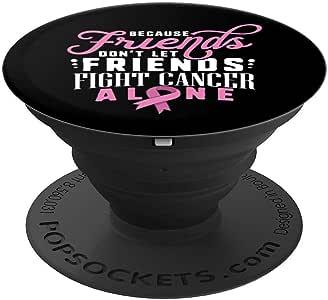 乳腺*幸存者礼物支持粉红丝带朋友贴合 - PopSockets 手机和平板电脑握架260027  黑色