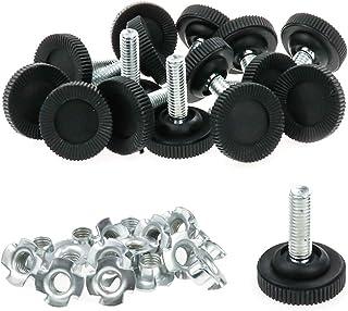 LICTOP 黑色家具水平器 可调节家具腿桌水平器 M8 螺纹尺寸 29 毫米 / 1.14 英寸 底座直径 16 件