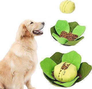 DORA BRIDAL 卷心菜狗 响声垫 宠物喂食玩具 互动拼图垫 慢吃狗狗碗 猫和狗用 可水洗 折叠 两用