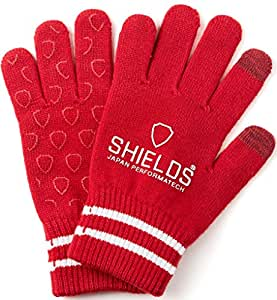 SHIELDS(SHIELDS) 手套 高尔夫手套 Sports Wear 针织手套 OT-01-04 红色 Free码