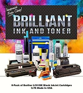 Brilliant Ink and Toner 喷墨墨盒 - 黑色 - LC61BK-BRL