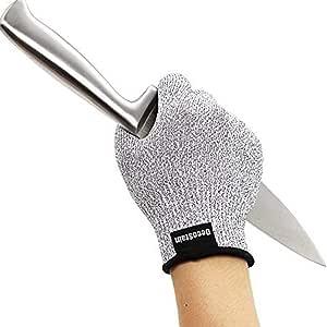 Decostain 抗切割手套,5 级保护,食品级厨房手套用于切割和滑动,*级手套用于手保护和庭院工作 灰色 小号 462684S
