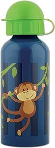 Stephen Joseph 猴子图案不锈钢水壶,海军蓝/绿色