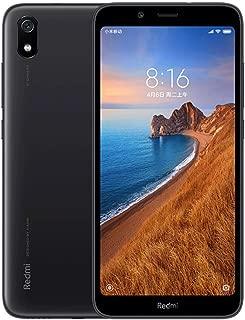 """小米 Redmi 7A(32GB,2GB RAM)5.45"""" 显示屏,脸识别,双 SIM GSM 工厂解锁(美国+全球 4G LTE 国际型号)(黑色)"""