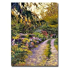Trademark Fine Art Sunset Road Impressions 由 David Lloyd Glover 画布墙体艺术 24 到 32 英寸 DLG0017-C2432GG