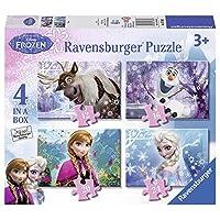 Ravensburger 睿思 拼图 迪士尼系列冰雪奇缘 四合一套装 R073603
