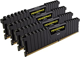 Corsair Vengeance LPX 32GB (4 x 8GB) DDR4 DRAM 2666MHz (PC4-21300) C15 memory kit for DDR4 Systems (CMK32GX4M4A2666C15)