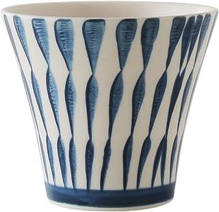 波佐见烧 茶壶 玻璃杯 套装/注水方便 带茶叶罐 水杯 套装 十草 蓝色 多色 -
