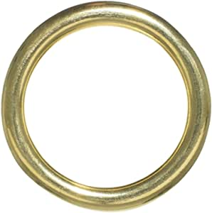 Craft County 黄铜 O 型环 - 内径尺寸选项(1/2,3/4,11/4,1.5 或 2 英寸) - 2 件装,5、10、15、25、50 或 100 1 1/2 Inch 100 Pack 100 X ORING112-BRASS-~CRAFT_BR