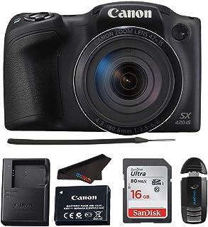 Canon 佳能 PowerShot SX420 数码相机 w/42 倍光学变焦 - Wi-Fi & NFC 启用(黑色) - Pixibytes 套装
