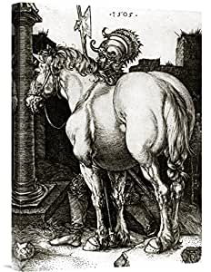 "Global Gallery GCS-264855-22-142""Albrecht Durer The Large Horse"" 画廊包装艺术微喷印刷墙壁艺术微喷"