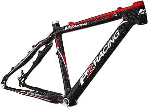 PZ Racing MT2.1FM Bike Frame, 15-Shiny 黑色 26x17-英寸 黑色 FM-15-17-white/black