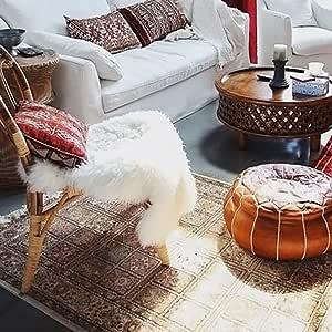 YiLe 人造毛羊皮小地毯可水洗地毯地板垫椅沙发垫厨房床卧室客厅垫家居装饰