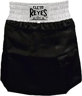 Cleto Reyes 女式缎面拳击裙内裤 - L 码 - 黑色/白色