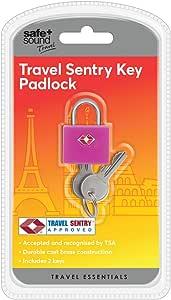 Safe and Sound 旅行旅行旅行旅行挂锁,颜色随机,4 厘米,混色