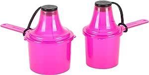 Scoopie 2 件装便携式勺子和漏斗旅行容器 - 预装和后训练套装 - 水瓶和调味瓶的粉末分配器(60 cc / 90 cc) 粉红色 60cc/ml - 90cc/ml 001