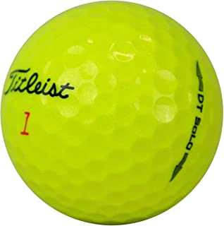 lbc-sports Titleist Dt Solo 高尔夫球 - AAA - 黄色 - 湖球 - 旧高尔夫球