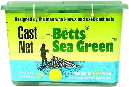 Betts 14-7 Professional Series Live Bait and Shrimp Mono Cast Net, 7-Foot Length, 5/8-Inch Mesh, Sea Green Finish