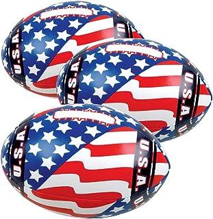 ArtCreativity 软填充美国国旗足球,一套 6 只,迷你 5 英寸填充美国国旗足球,7 月 4 日派对礼品和装饰,纪念和独立日爱国用品
