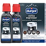Durgol Swiss Espresso Descaler/Decalcifier for All Brands of Espresso (fully and semi-automatic) and Coffee Machines (pods, pads, manual, drip), 2 pack