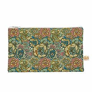 "KESS InHouse Pom 图案设计""盛开多肉""*橙色物品袋,22.86cm x 10.16cm(PG1125AEP03)"