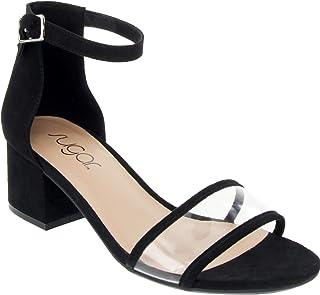 Sugar 女式 Noelle 低帮两件套粗跟正装鞋 女式 踝带 高跟凉鞋
