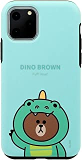 LINE FRIENDS iPhone 手机壳 JUNGLE BROWN DUAL GUARDKCJ-DJT001  iPhone 11 Pro ダイノブラウン