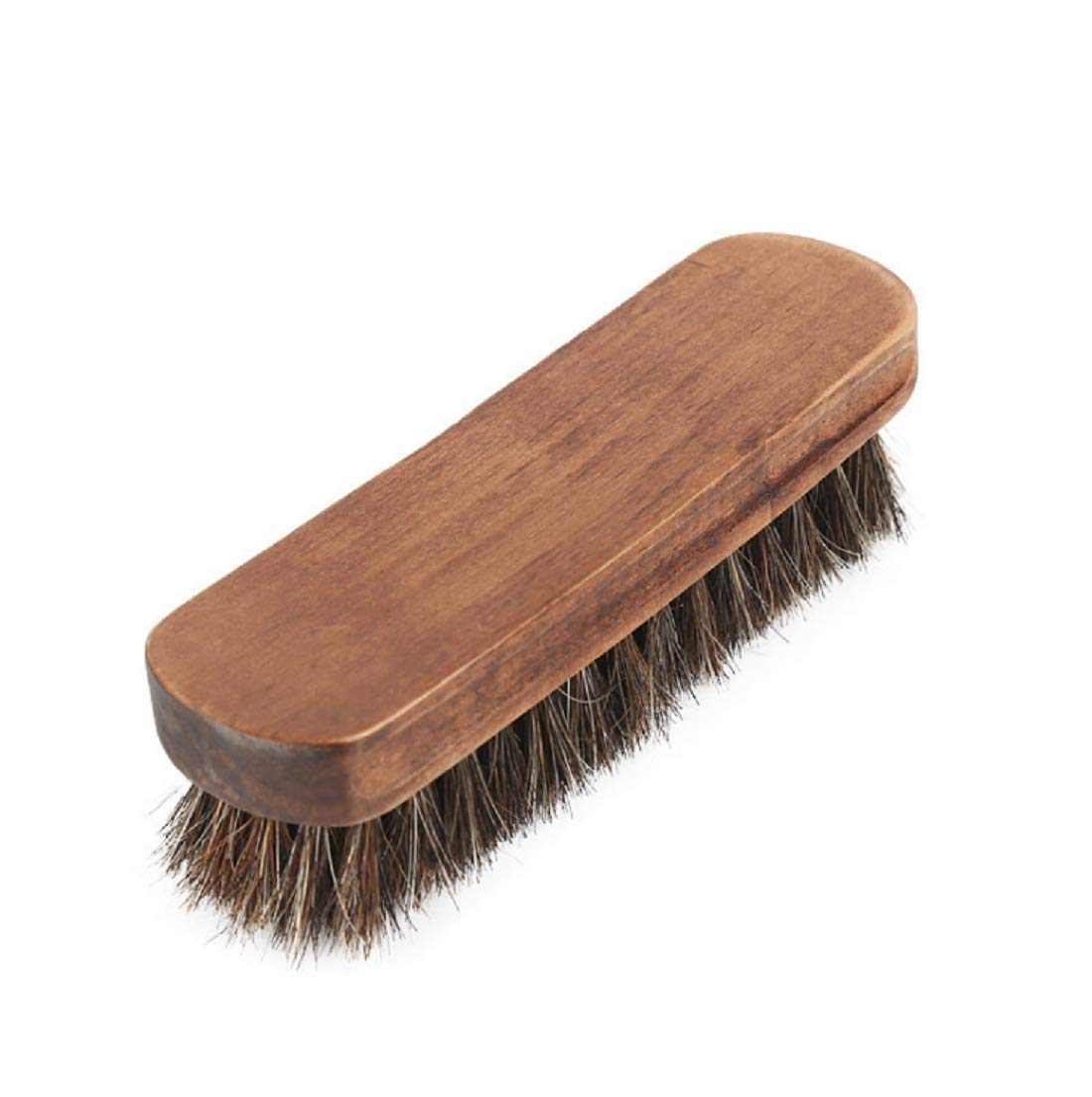 15.24 cm 鞋光泽刷,* 软马鬃和山毛榉木鞋抛光大型鞋清洁 - 适用于鞋、靴子和其他皮革护理