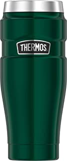 Thermos 膳魔师 King 不锈钢旅行随行水杯,松绿色,16盎司(约473.12 毫升)