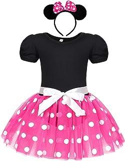 Jurebecia 女孩独角兽服装盛会派对婚礼礼服儿童舞会礼服万圣节芭蕾舞短裙带头带