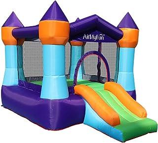充气儿童弹跳房,带滑梯幼儿弹跳城堡,带鼓风机,适用于室内户外派对