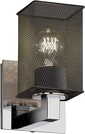 Justice Design Group MSH-8921-15-CROM 线网格模块 1 个灯壁灯,19.75 英寸 x 4.75 英寸 x 5.25 英寸,抛光铬