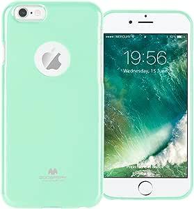 GOOSPERY Marlang iPhone 6/6S 手机壳,免费屏幕保护膜【贴合】TPU 手机壳【灵活】珍珠果冻【保护】保护套适用于 Apple iPhone6S 6 薄荷绿