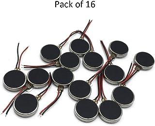 Saim 硬币电机 10mm x 3mm 迷你振动电机 DC 3V 12000rpm 扁平按钮式微型电机,适用于手机、寻呼机、平板电脑家用电器 10mmx2mm-16pcs A1003CQ012923#LJY