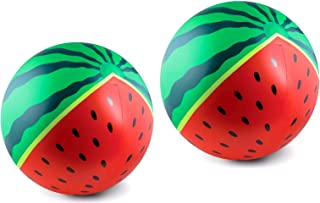 西瓜沙滩球 20 英寸充气球度假泳池派对海滩乐趣游戏成人儿童 2pc