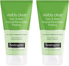 Neutrogena 露得清 Visibly Clear 精细&哑光 皮肤去角质磨砂膏 清除毛孔磨砂膏 带柠檬和柑橘萃取物 2 × 150 毫升