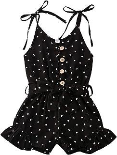 KIDSA 2-7T 婴幼儿小女孩一件式花卉紧身衣连身衣哈伦裤